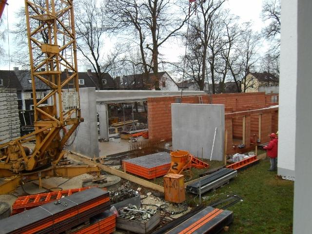 Baustelle Dezember 2011
